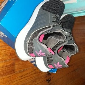 Gray and Pink Adidas X_PLR